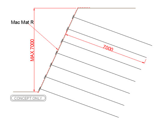 how to cut lattice on a slope